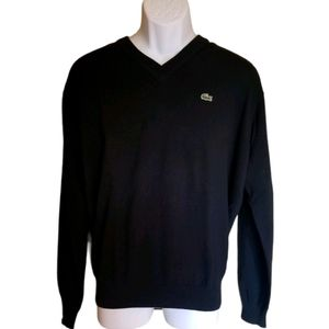 Lacoste Mens Black Pullover Sweater Size Large